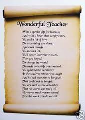 thank you teacher poems - Google Search