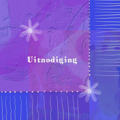 Leuke kaart met bloemen en patroon - Uitnodigingen - Kaartje2go