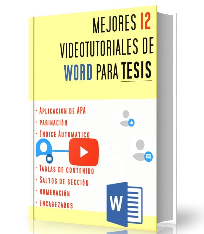 Mejores 12 Video-tutoriales para elaboración de tesis en Word y aplicación de normas apa    http://www.librearchivo.tk/2016/08/mejores-12-video-tutoriales-para-tesis.apa.html