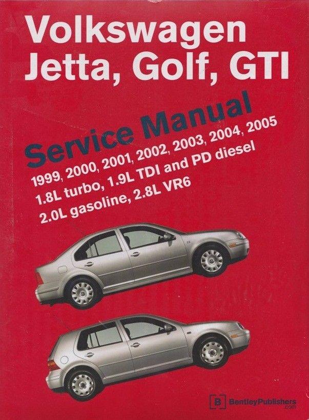 Volkswagen Jetta Golf Gti Service Manual 1 8l Turbo 1 9l Tdi Pd D Volkswagen Jetta Volkswagen Gti