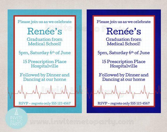 Medical Party / Nurse Graduation Invite / Doctor by InviteMe2Party, $12.00
