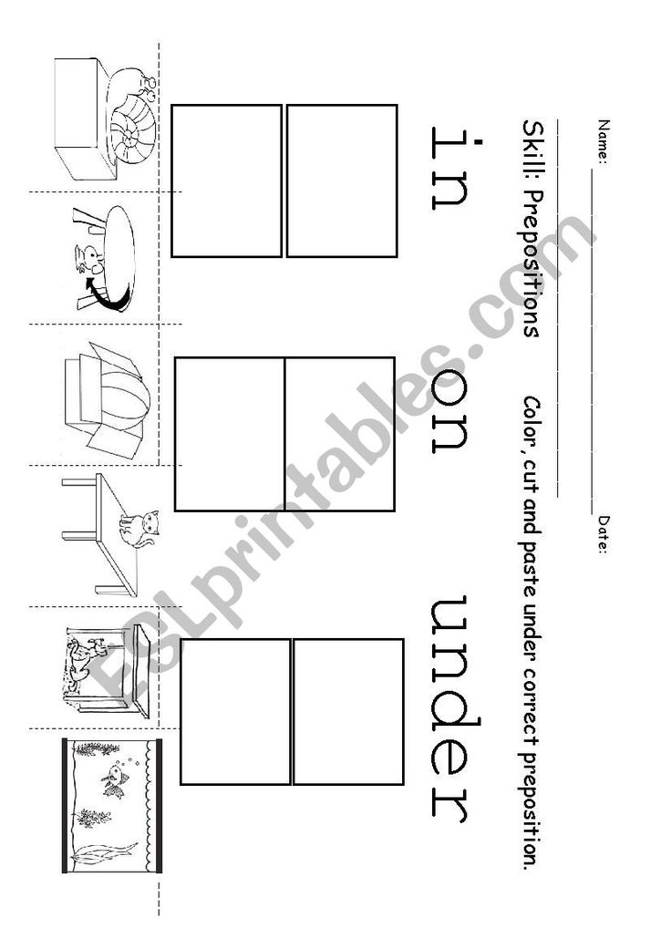 Prepositions, IN, ON, UNDER ESL worksheet by Nan teacher