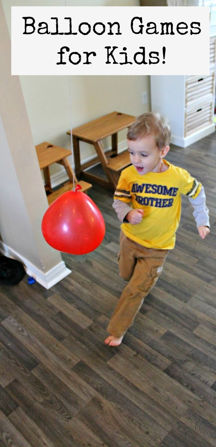 Get moving with these fun balloon games for kids!  Great gross motor activities for kids and awesome for blowing off steam.  Perfect for birthday party games too!