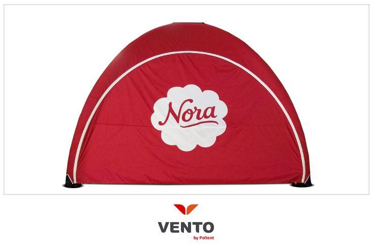 Lekki nowoczesny namiot Vento dla pysznej norweskiej marki Nora.