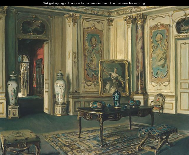 Interior - Walter Gay - Le Grand Salon Musee Jacquemart Andre, 1913