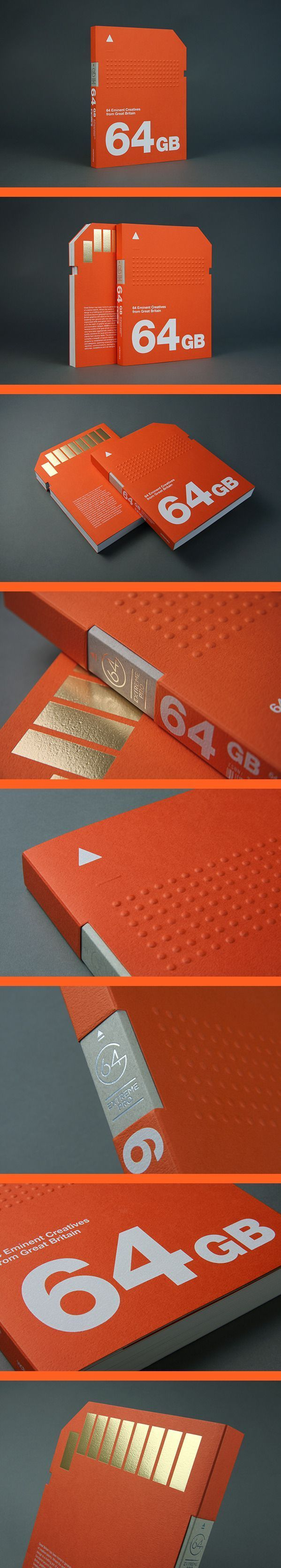 64GB 64 Eminent Creatives from Great Britain | love the vibrant orange, bold font and the use of the die-cut.: