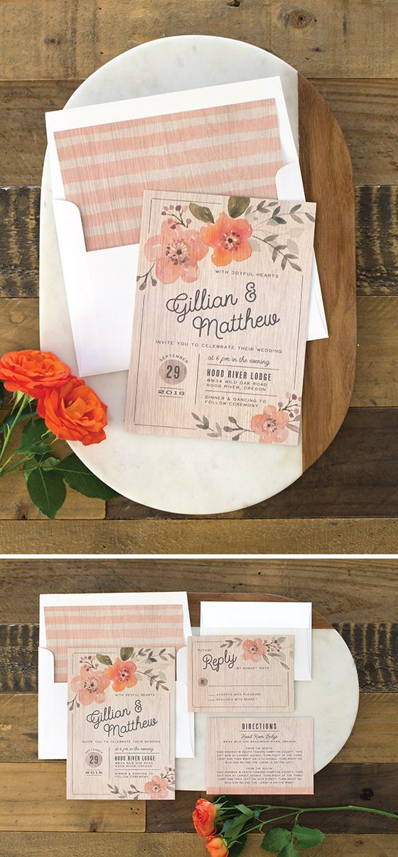 Rustic Love Wedding Invitation Suite 222 best