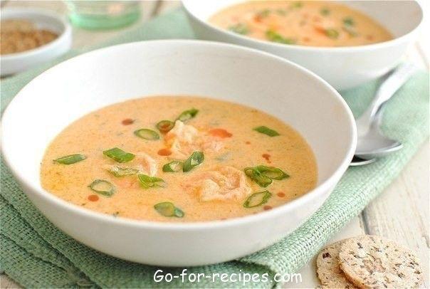 Soup with shrimps.