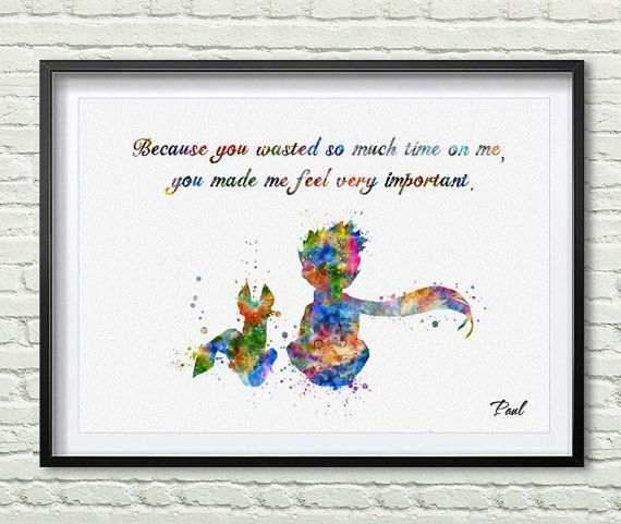 Quotes Little Prince The Little Prince Quotes by PaulArtPrint