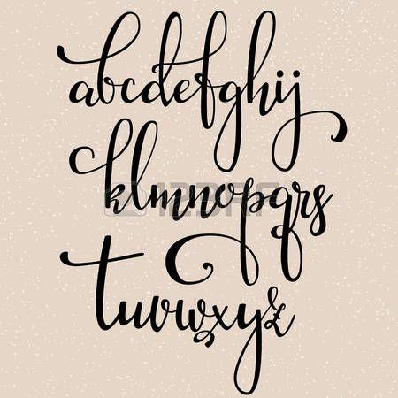 Berühmt Les 25 meilleures idées de la catégorie Alphabet de calligraphie  YG04