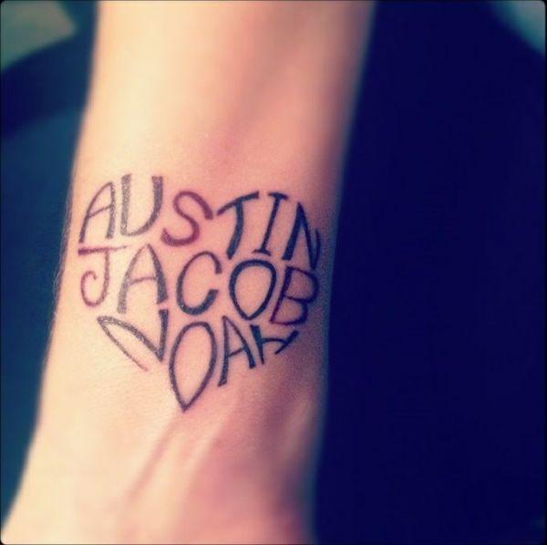 Unterarm Herz Tattoo Motive Name | Kindernamen tattoos