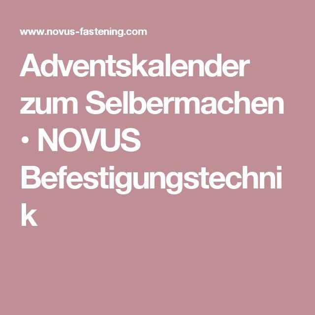 Adventskalender zum Selbermachen • NOVUS Befestigungstechnik