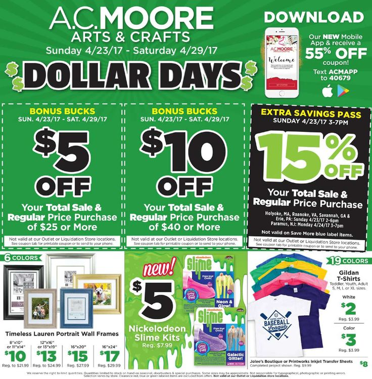 AC Moore Weekly Ad April 23 - 29, 2017 - http://www.olcatalog.com/home-garden/ac-moore-weekly-ad.html