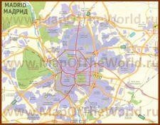 Карты Мадрида
