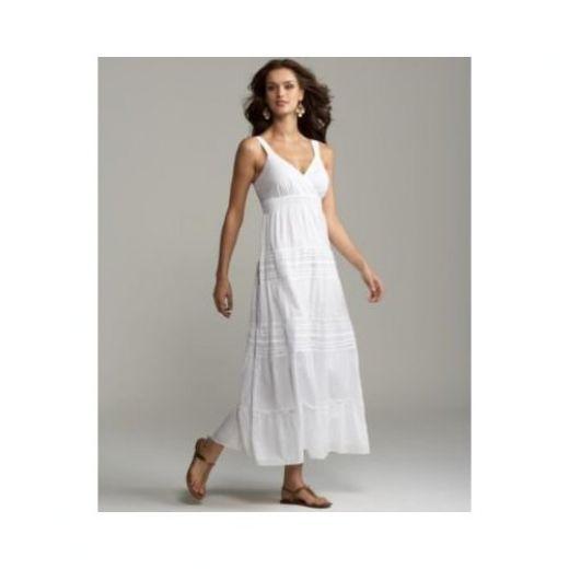 white linen dresses casual beach long white maxi summer casual wedding dress