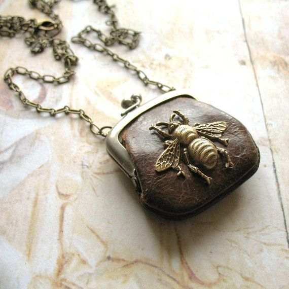 ...I long admired my Grandmothers's bee necklace & now it was mine....  Vintage Purse Necklace