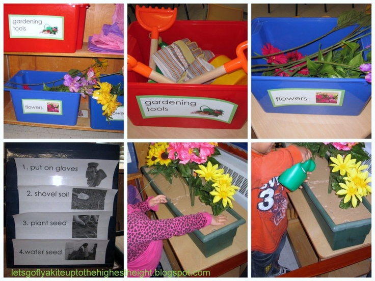 From let's go fly a kite: May 2011.  Flower shop dramatic play materials.  Great ideas that also support early literacy and writing.