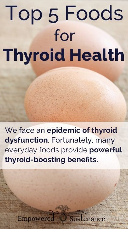 Top 5 Foods for Thyroid Health I would add sea vegetables (like nori, etc.) for Iodine absorption. From my little experience, top minerals that I look for in daily diet: Selenium, Iodine, & Zinc