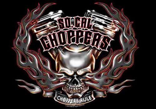 So California Choppers Poster Flag Rule Skull Logo Tapestry