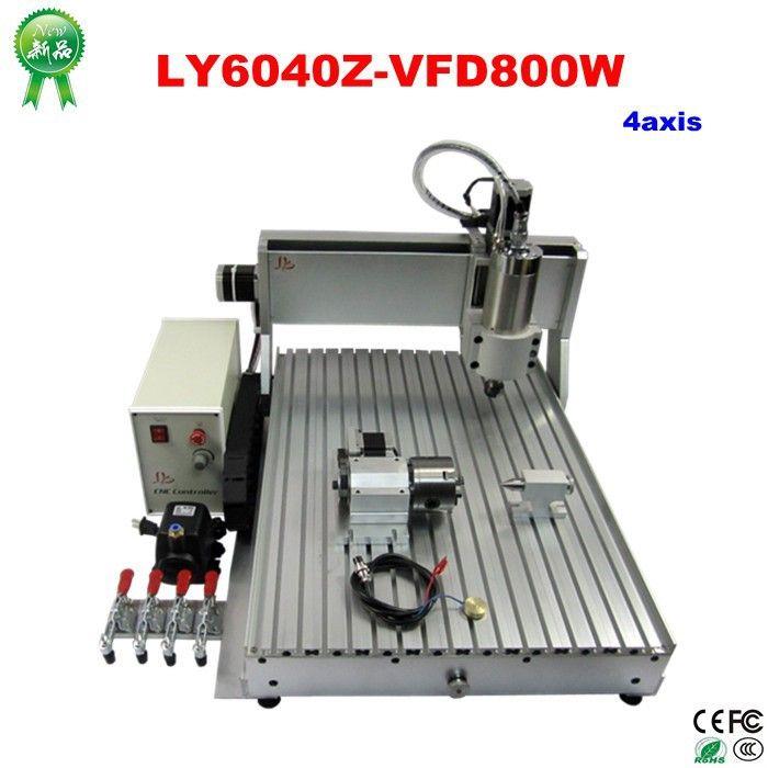 Envío gratis 4 axis CNC 6040 Z VFD 800 W máquina de grabado 3D montado y probado bien fresa carpintería del router en Enrutador de Madera de Mejoras para el hogar en AliExpress.com | Alibaba Group