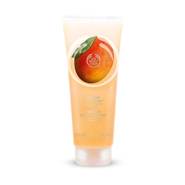 Een verfrissende Body Sorbet met de heerlijke geur van Mango.