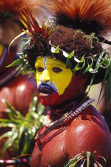 The Huli are an indigenous people who live in the Southern Highlands districts of Tari, Koroba, Margaraima and Komo, of Papua New Guinea.