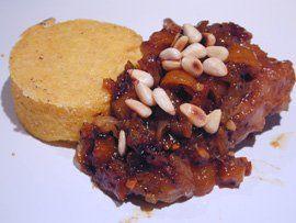 Mijoté d'Agneau aux Kumquats et aux Pignons, Petit Gâteau de Polenta
