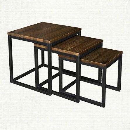 Palmer Nesting End Table Set In Bali Brown