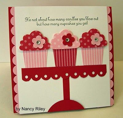 handmade birthday card: i STAMP by Nancy Riley: CREATE A CUPCAKE ... cupcake table from punches ... cute birthday sentiment ... Stampin' Up!