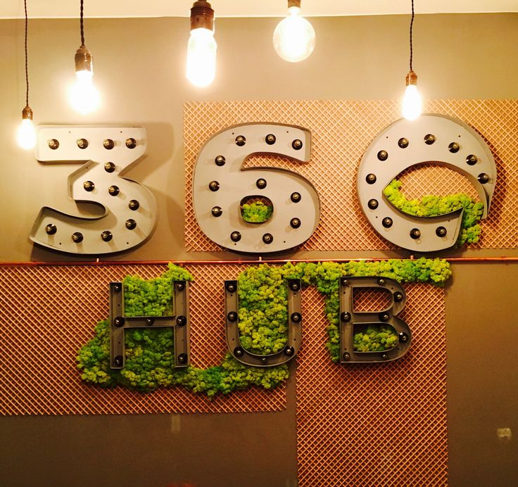 This beautiful industrial logo of our client from @360hub has been taken over by green moss.