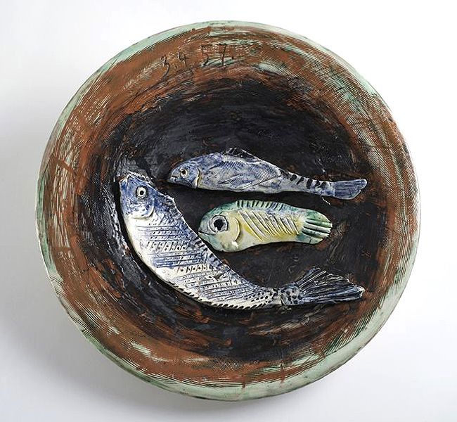 Nature morte aux 3 poissons picasso catching the for Poisson coil