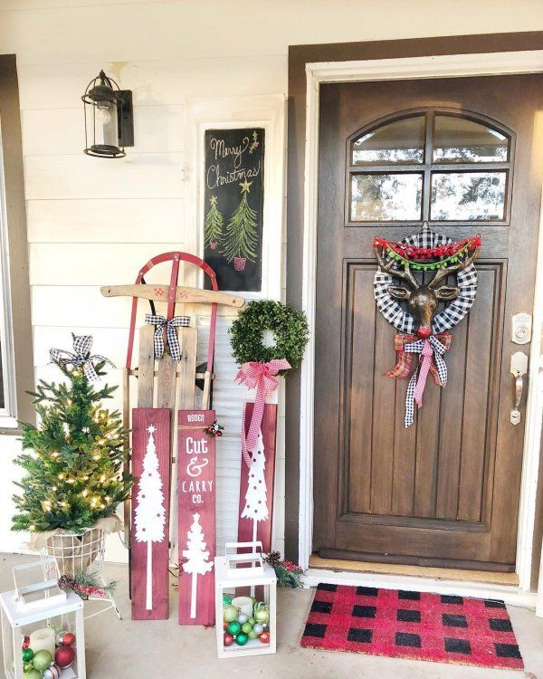 20 Fresh Christmas Porch Decoration Ideas That You Didn't Imagine