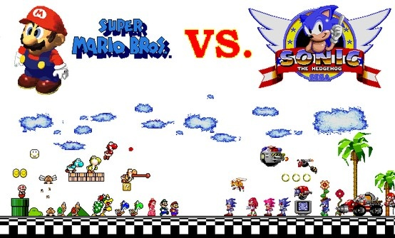 super mario vs sonic the hedgehog Mario vs sonic the hedgehog is the seventh installment of epic rap battles of cartoons it featuresnintendo's mascot, the italian plumber, mario , against sega's speady mascot, sonic the hedgehog  it was released on april 12th, 2013.