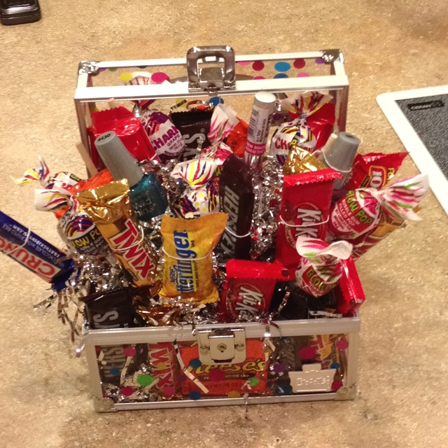 Totally Fun And Creative Birthday Gift Candy Girly Basket