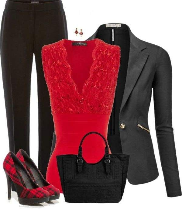 color rosa, color rojo, chaqueta punto, cuero negro - 24 maneras de ver Lovely & Amazing para el Día de San Valentín - Día de la técnica Las ideas de San Valentín