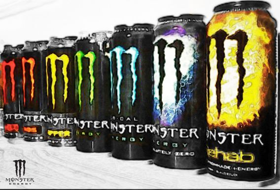 canettes monster energy