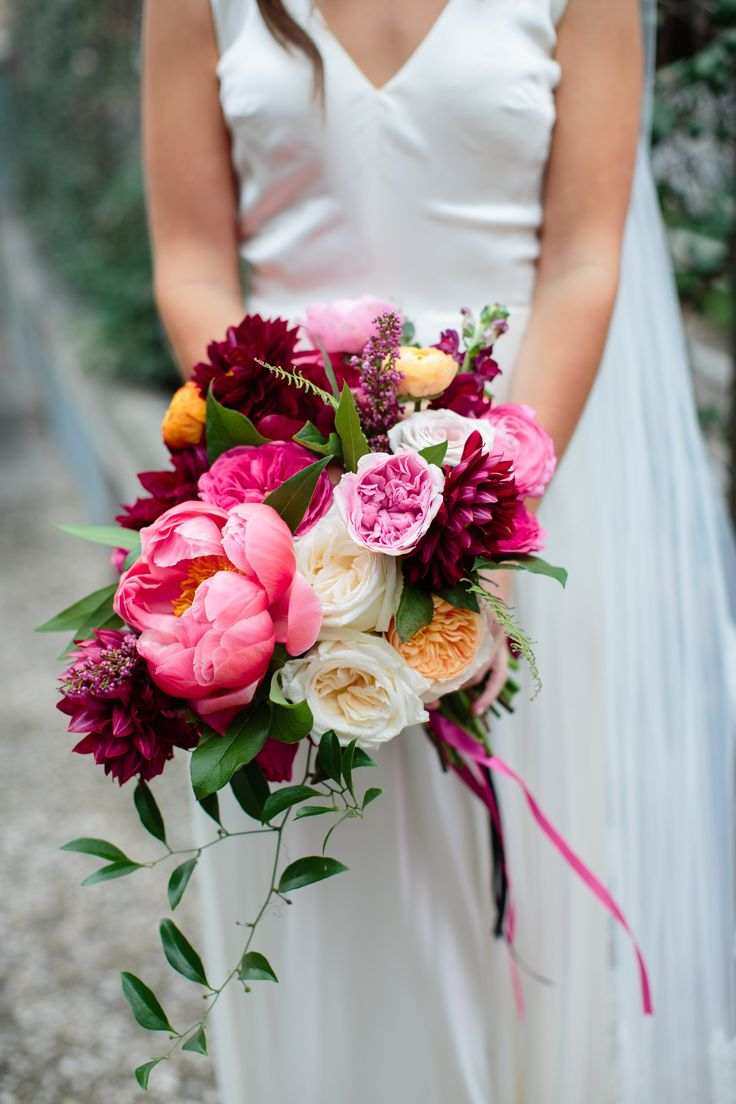Bridal Bouquets Using Peonies : Love the mix of colors and shape this one burgundy