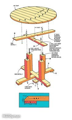 How to build the pedestal picnic table - Looking for different kind of outdoor table? This article will show you how to build a round, Craftsman-style picnic table that's perfect for a backyard deck or patio. Read more: http://www.familyhandyman.com/woodworking/projects/how-to-build-a-picnic-table/view-all