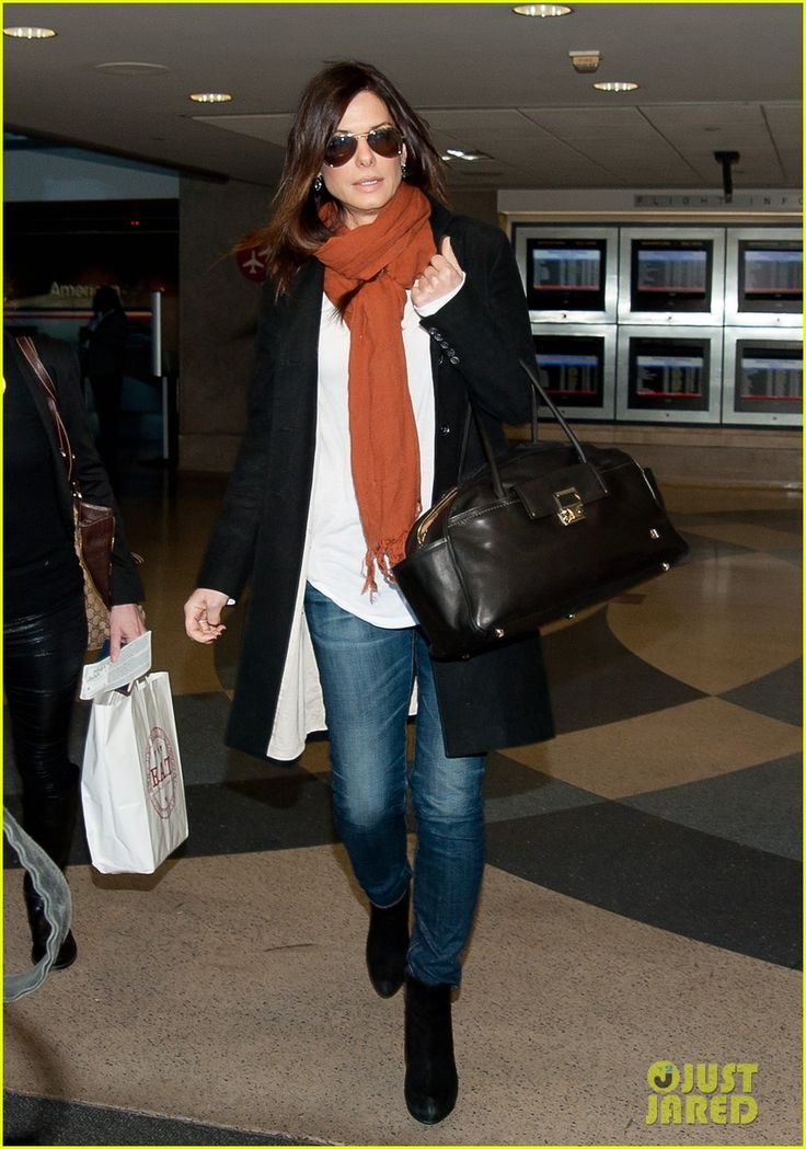 Sandra Bullock. LAX.