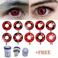 wish red sexy colored contact lenses contacts color halloween container free cleaner - Contact Lenses Color Halloween