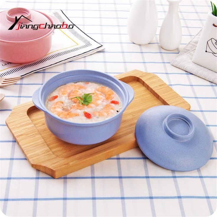 Pure Color Ramen Large Student Lunch Box Household PP Bowl With Lid Instant Noodles Bowl