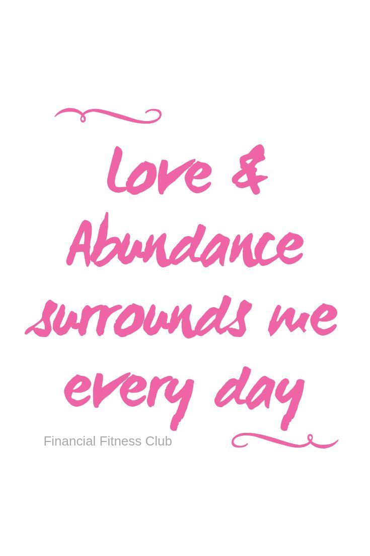 Love & Abundance – Wealth Affirmation Coffee Mug   Tea Cup   Inspirational Mug   Quotes Mug   Law of Attraction
