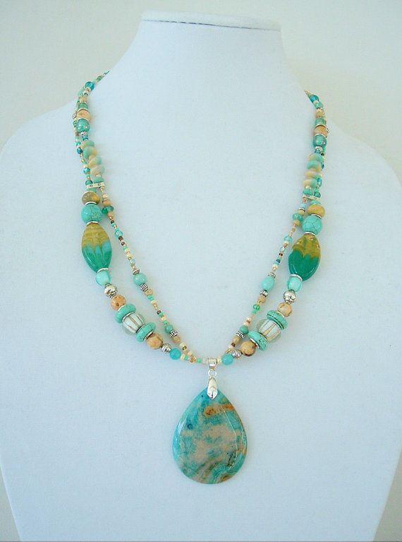 Boho Necklace Southwest Jewelry Turquoise Boho by BohoStyleMe, $120.00