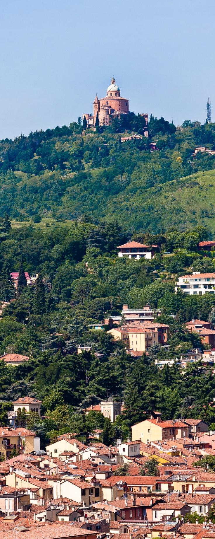 #Bologna - Adelini Riccardo - Cattedrale di San Luca vista dalla Torre degli Asinelli. Bologna - Cathedral of Saint Luke seen from the Torre degli Asinelli. #Italy