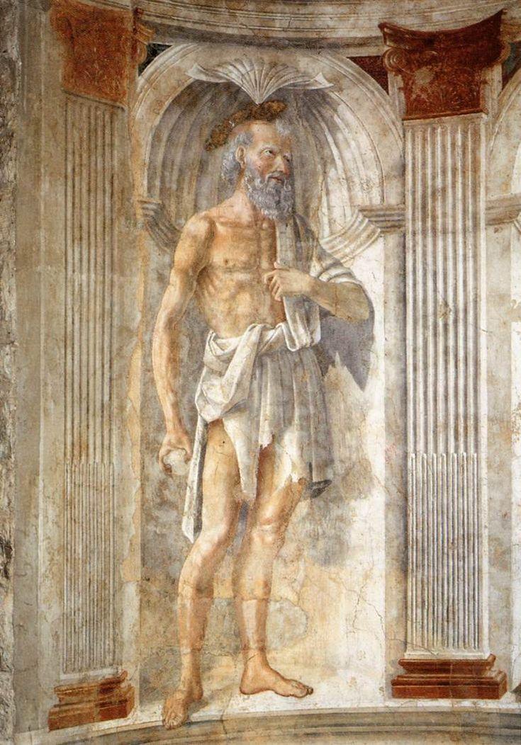 Domenico Ghirlandaio (Italian, 1449-1494) ~ Italian painter ~ Florentine school ~  St Jerome ~ ca.1471 ~ Fresco Parish Church of Sant'Andrea, Cercina