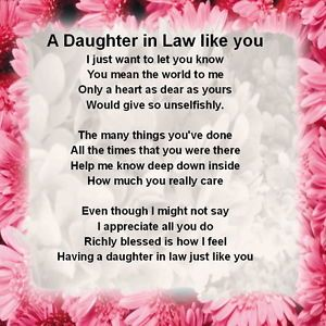 daughter law poems | Daily Deals