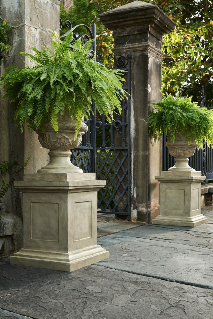 Landscaping With Urns : Best garden entrance ideas on arches traditional fencing and gates