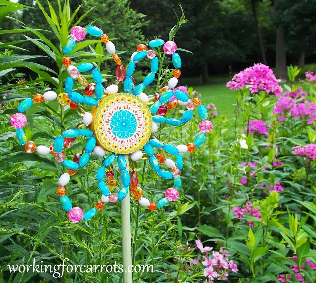 372 best boho garden images on pinterest garden ideas balcony and bohemian garden flower made with yard sale find necklace beads solutioingenieria Gallery