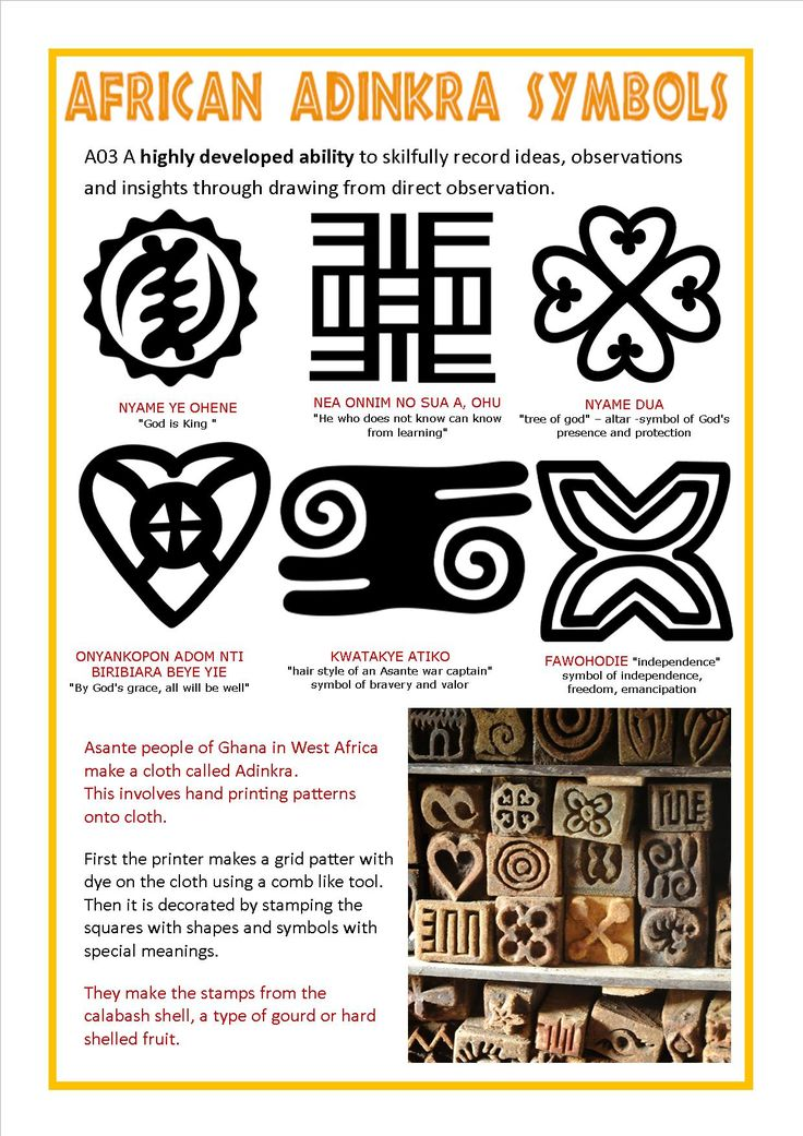 Adinkra African Symbols And Meanings