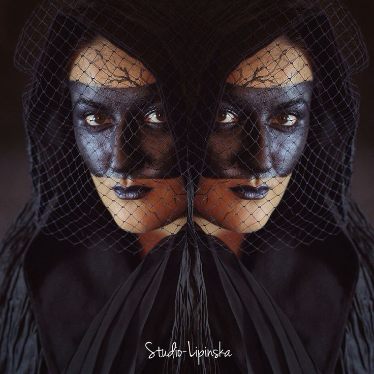 Black creative makeup - #halloween #makeup #photo Dorota Lipinska